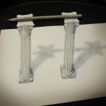 11_dessin_3d_pencil_on_columns_Alessandro_Diddi