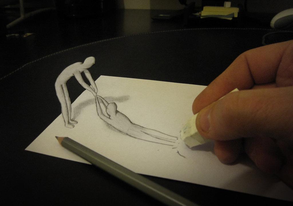 les dessins en relief d alessandro diddi croquis illusion 3d. Black Bedroom Furniture Sets. Home Design Ideas