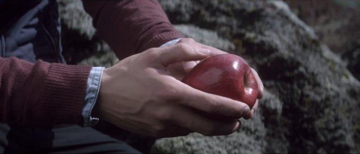 Pub humour smartphone samsung galaxy s4 : l'homme qui téléphone avec une pomme.