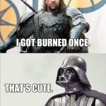 star-wars-vs-game-of-thrones-02-Darth-Vader Sandor Clegane