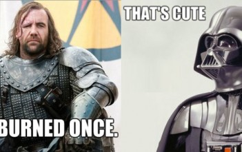 Clash Star Wars / Game of thrones : Darth Vader vs. The Hound (Sandor Clegane) !