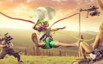 Catapulte humaine : le lance pierre géant de Devin Graham