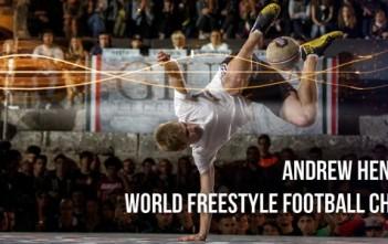 Andrew Henderson : champion du monde de football freestyle
