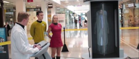 La cabine de téléportation Star Trek de Blinkbox