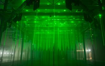 Laser Forest : installation musicale interactive et artistique
