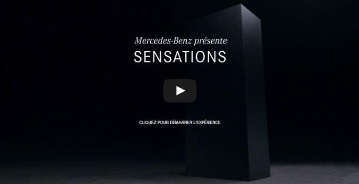 sensations cachées mercedes : l'expérience interactive digitale