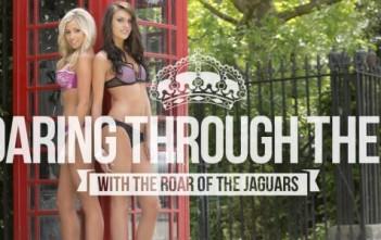 "Shooting du calendrier sexy 2014 ""the roar of the jaguars"". Chearleeders en lingerieà Londres."