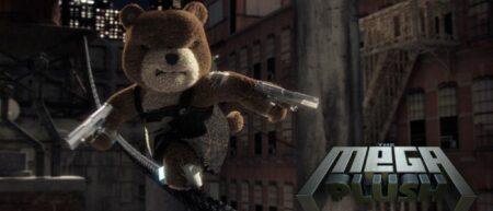 the mega plush : court-métrage d'animation singe vs ours en peluche