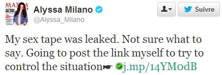 twitter sex  tape Alyssa Milano