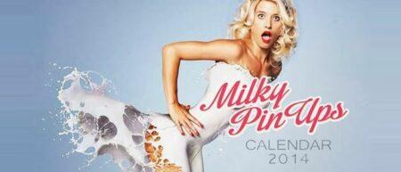 Milky Pin-Up : le calendrier 2014 des filles sexy habillées de lait