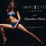 Affiche publicitaire sexy Implicite lingerie : projections privées caprice