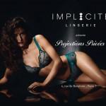 Affiche publicitaire sexy Implicite lingerie : projections privées obsession