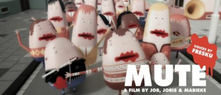 Mute, le court métrage d'animation. Un monde sans bouches.