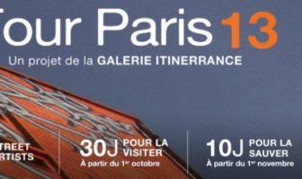 La tour paris 13 : une eposition de street art géante