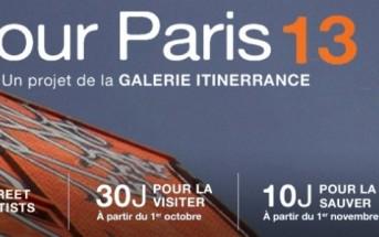Tour Paris 13 : expo Street Art géante dans un immeuble de 9 étages