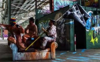 Street art : 4 graffeurs redécorent un hangar dans un timelapse