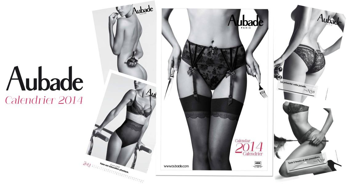 Calendrier Aubade 2014 : leçon de séduction et lingerie sexy