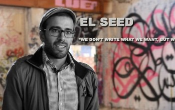 El Seed : calligraffiti artist = calligraphie + graffiti