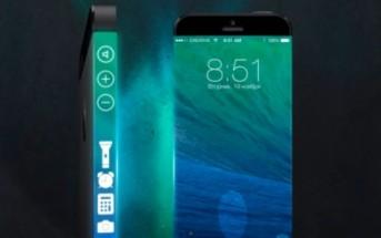 iPhone 6 : concept avec écran latéral sur les côtés du smatphone