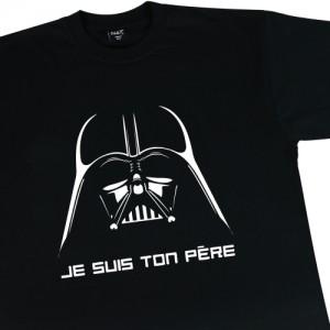 """t-shirt dark vador """"je suis ton père"""" (presque parfait)"""