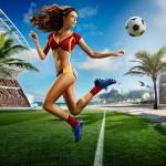 calendrier footballeuse sexy coupe du monde 2014 : espagne