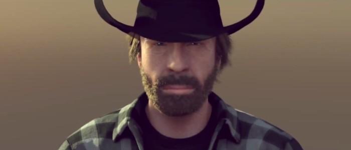 Chuck Norris le grand écart entre 2 avions qui parodie l'epic split de JCVD