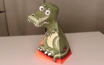 Illusion d'optique T-Rex : ce dinosaure vous suit du regard !