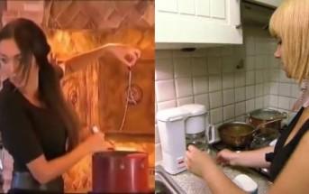 Battle : Joyce la blonde belge fait du café et Nabilla des pâtes
