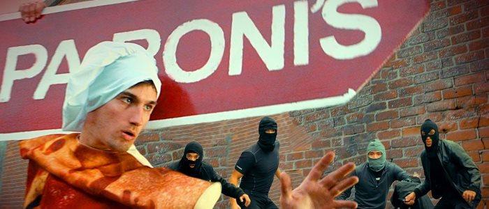 papa roni's ninja : le super hero du panneau publicitaire