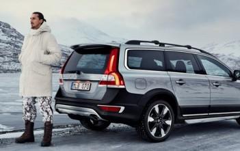 zlatan chasseur suédois dans la pub Volvo xc70