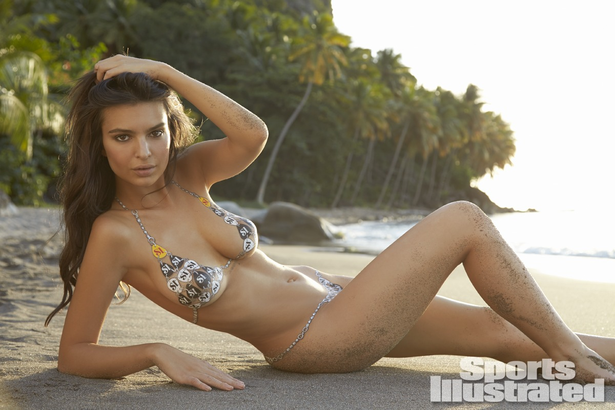 emily ratajkowski nue en body paint pour sports illustrated swimsuit 2014