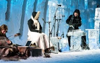 ice music ffestival 2014 : instruments de musique en glace