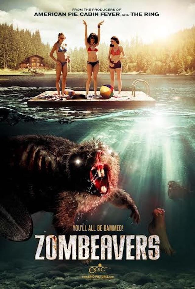 zombeavers : affiche du film castor zombie 2014