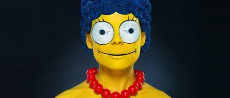 Marge Simpson en vrai maquillage