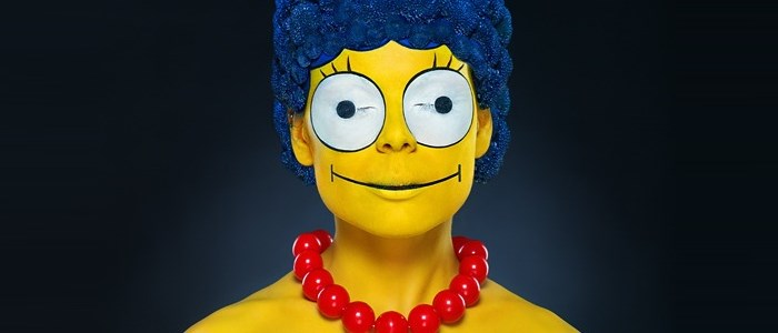 Marge Simpson en vrai maquillage