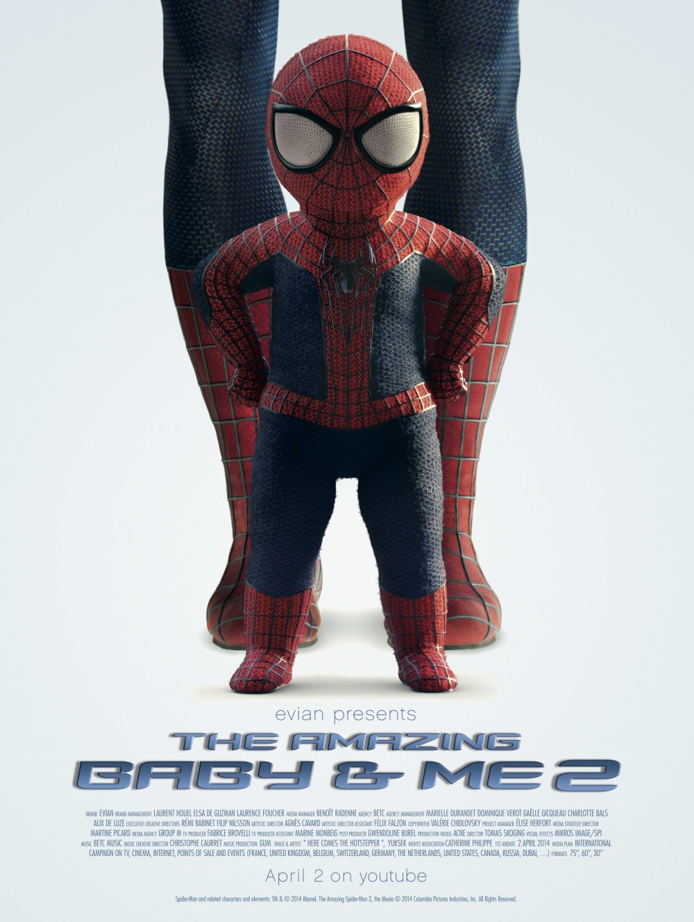 Affiche du film Evian bébé Spider-Man : The amazing baby & me 2