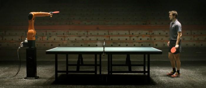 duel de ping pong : robot vs. homme (Timo Boll)