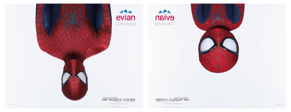 Evian Spider-Man : pub affichage