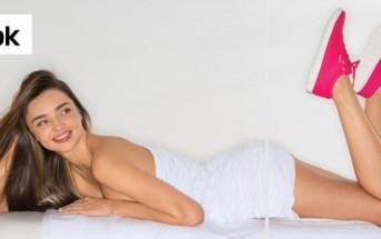Miranda Kerr nue sous la douche, mais avec ses reebok !