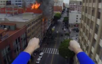 Superman se filme avec une GoPro Hero 3 [drone Dji Phantom 2]