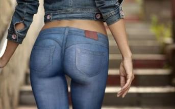 Le jean sexy le plus moulant de tous les temps [Body painting]