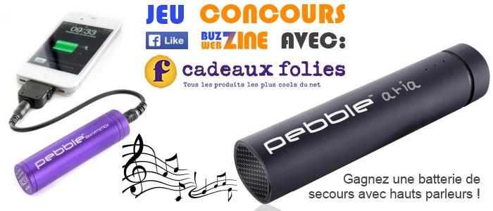 jeu concours buzzwebzine cadeauxfolies : ganez une batterie de secours !