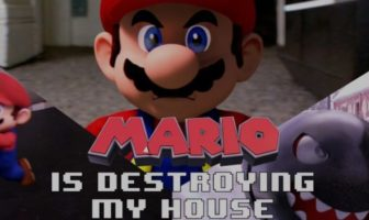 mario détruit une maison