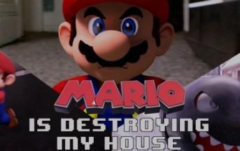 Mario détruit la maison d'un gamer en son absence