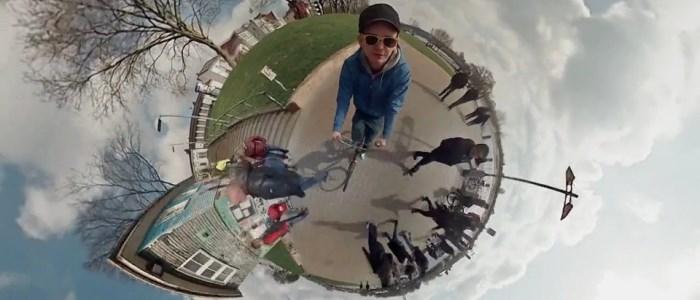 timelapse panoramique sphérique filmé par 6 caméras GoPro à 360°
