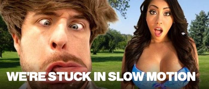 stuck slow motion : smosh et Raquel Perez