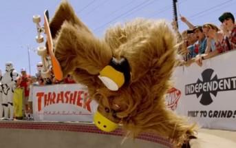 Vans x Star Wars : un pot de Chewbacca fait du skateboard !