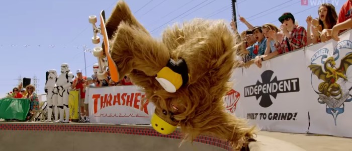 vans x star wars : chewbacca en skateboard