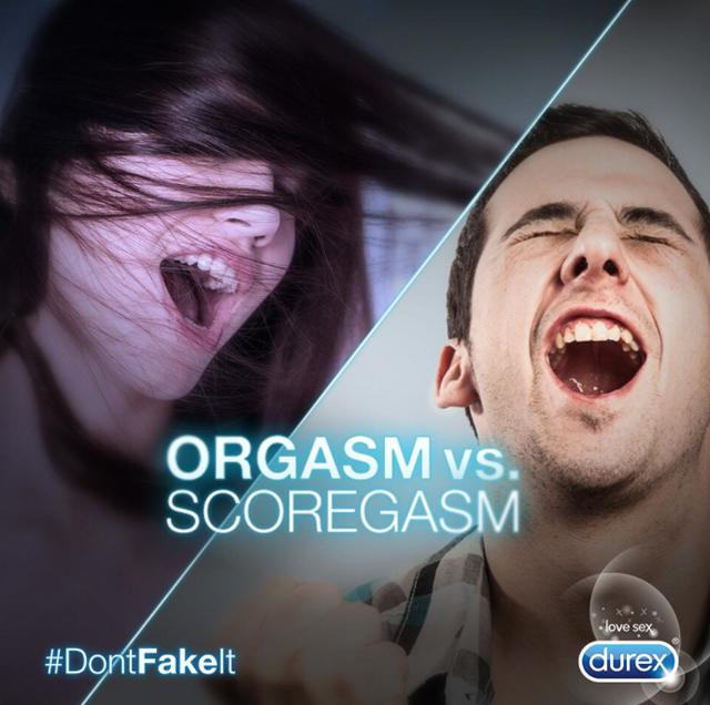 DontFakeit pub durex simulation : orgasm vs scoregasm
