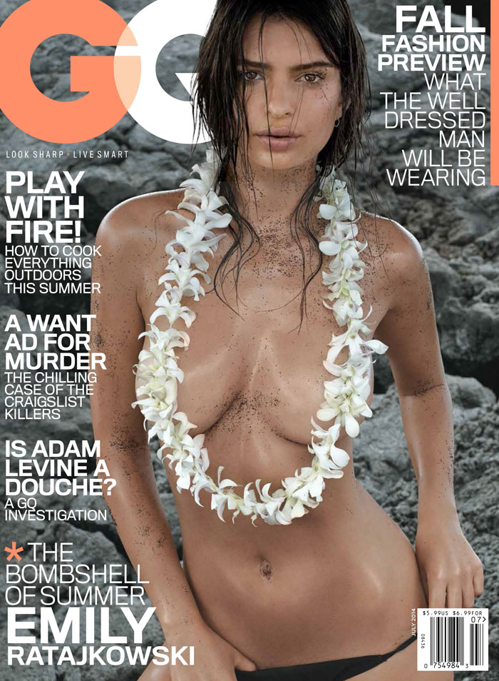 Emily Ratajkowski nue en couverture de GQEmily Ratajkowski nue en couverture de GQ